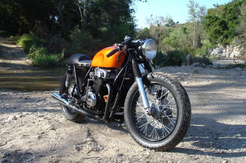 Honda CB 750 Orange Cafe Racer By Kott Motorcycles