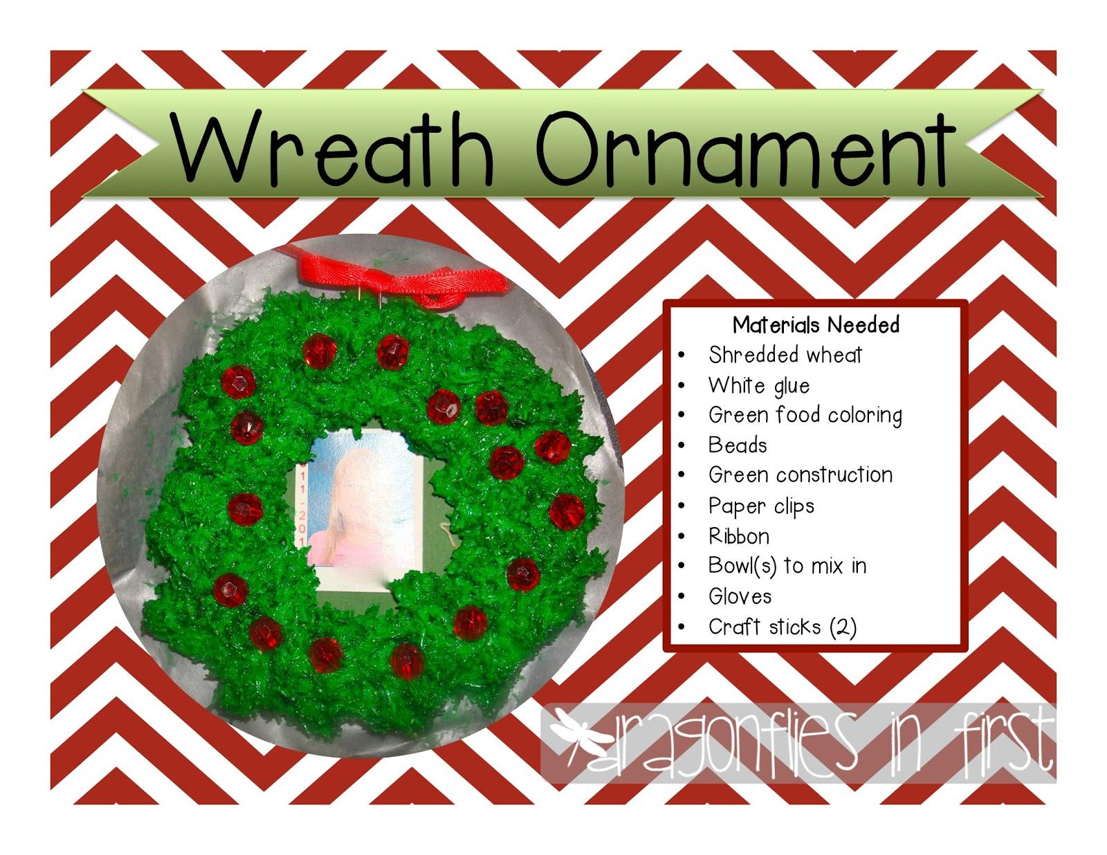 Freebielicious: Wreath Ornament - Easy Peasy Parent Gift!