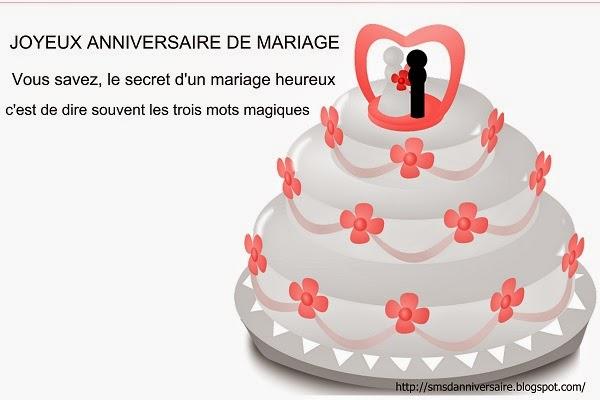 Message Joyeux Anniversaire Mariage