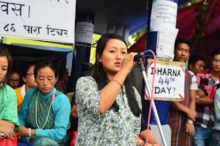Dharna for lepcha para teacher