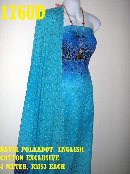 BPE 1760D: BATIK POLKADOT ENGLISH COTTON EXCLUSIVE, 4 METER
