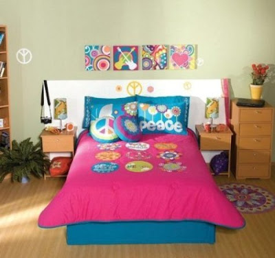 Decoración de Habitaciones Juveniles con Símbolos de Paz y Amor ...