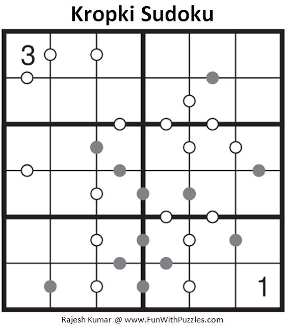 6x6 Kropki Sudoku (Mini Sudoku Series #59)