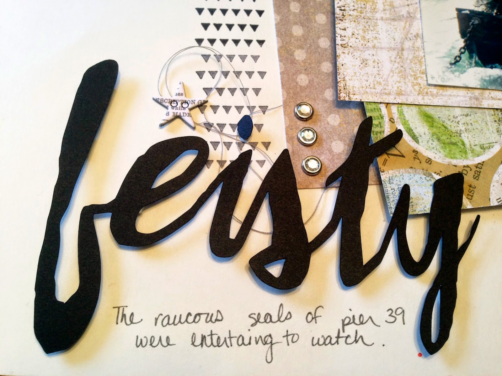 """A Li'l Bit Feisty:  A scrapbook layout by Alice Scraps Wonderland 