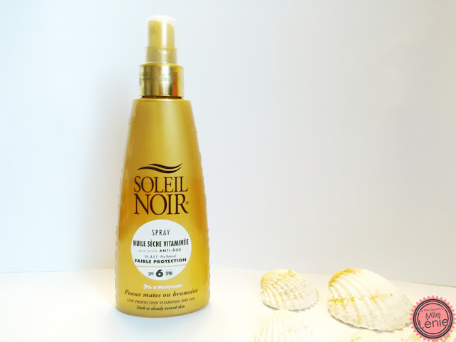 Spray Huile Sèche Vitaminée spf6 Soleil Noir