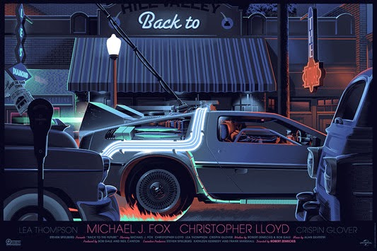 Back to the Future Screen Print by Laurent Durieux
