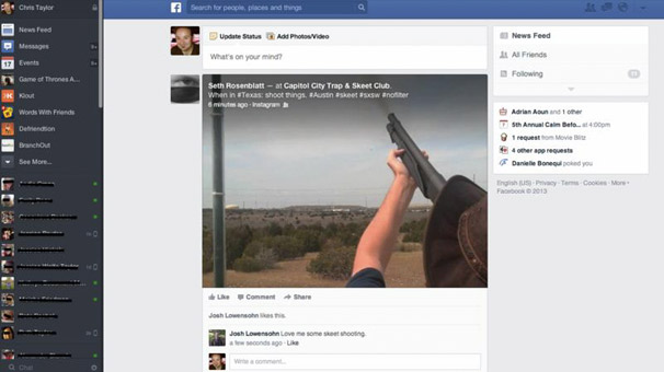 facebookun yeni görünümü