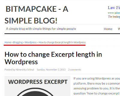 how to add breadcrumbs to blogspot