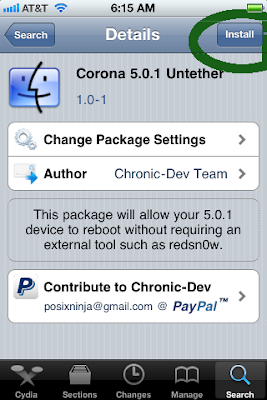 Use Corona To Untethered Jailbreak iOS 5.0.1