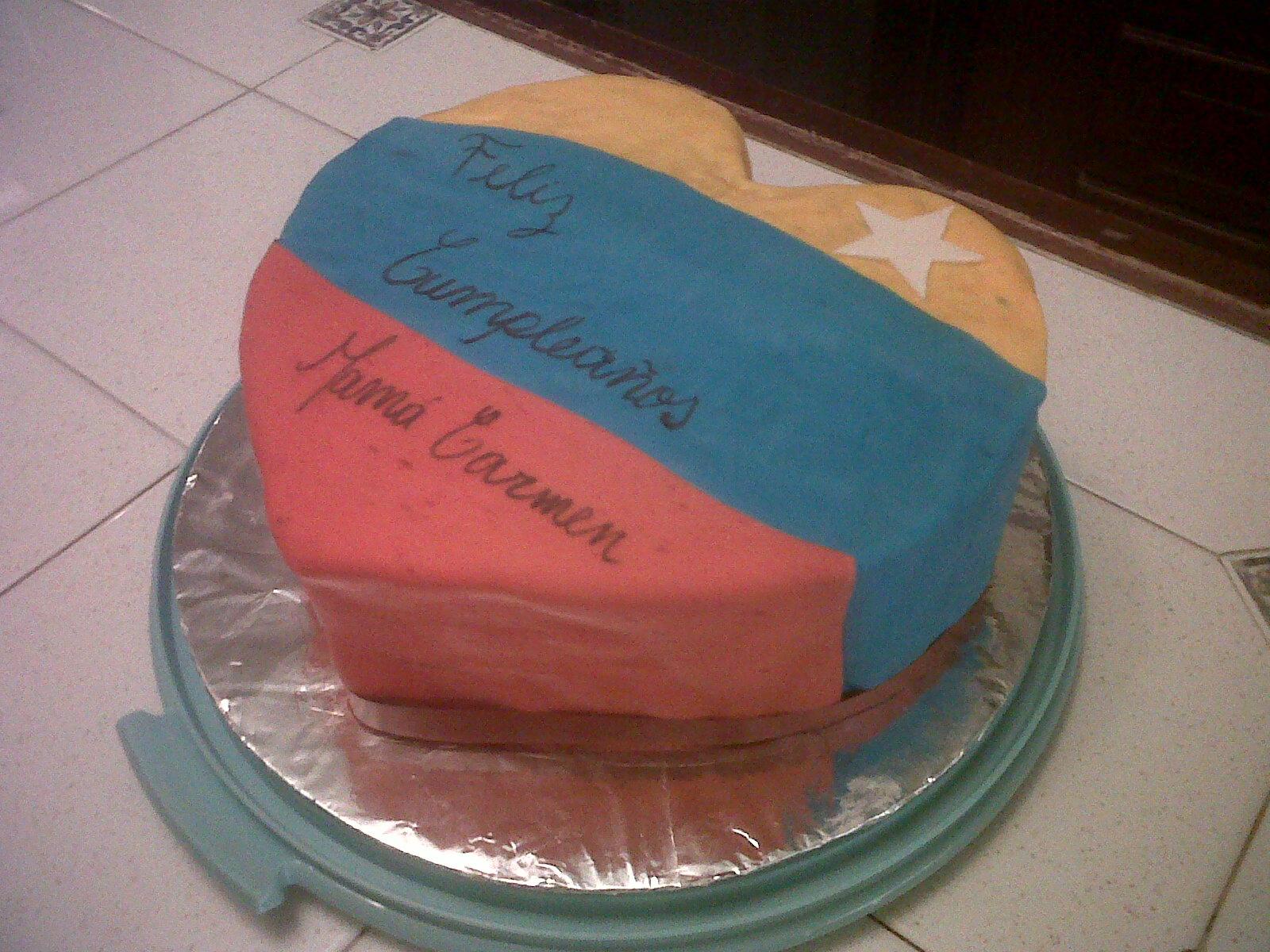 Torta especial para una revolucionaria de corazón!