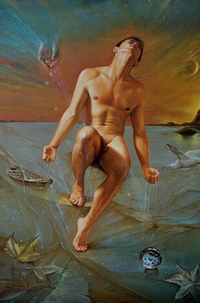 Desnudos Masculinos Pintura Al Leo