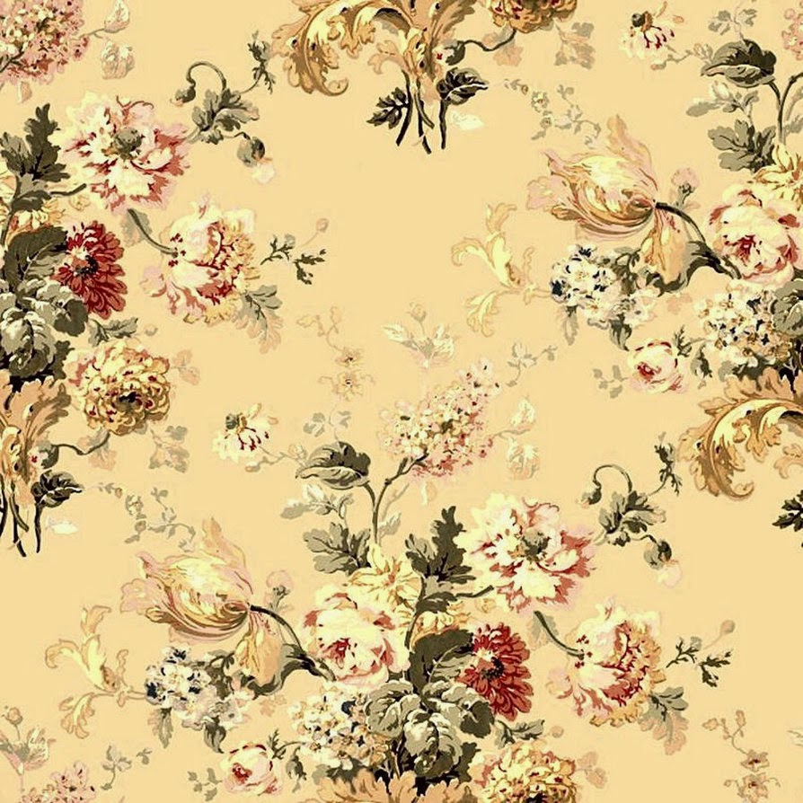 Antique Floral: VINTAGE FLORAL WALLPAPER