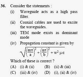 2013 September UGC NET in Electronic Science, Paper III, Question 36