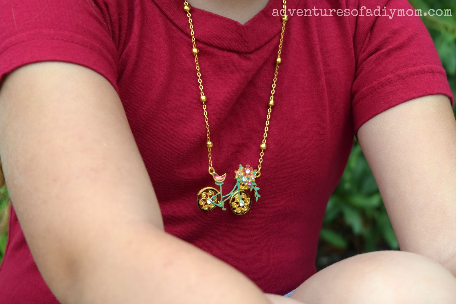 Bike Necklace - Adventures of a DIY Mom