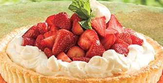 Gambar kue tart strawberry