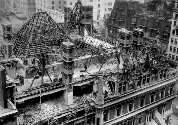 The gilded age era demolition of the cornelius vanderbilt for 130 william street 5th floor