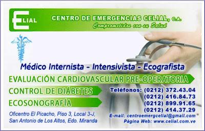 CENTRO DE EMERGENCIAS CELIAL, C.A. en Paginas Amarillas tu guia Comercial