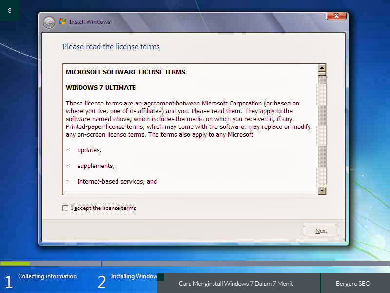 Cara Menginstall Windows 7 gambar 3