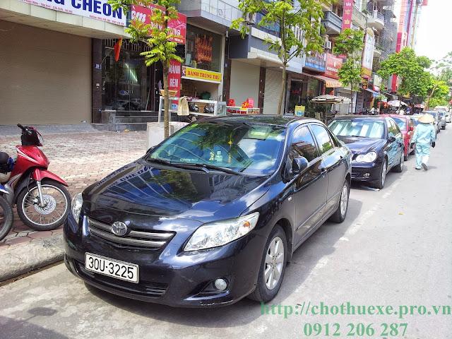 Cho thuê xe Toyota Altis tại Hà Nội