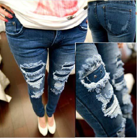 cara merobek celana jeans menjadi model belel carabuas