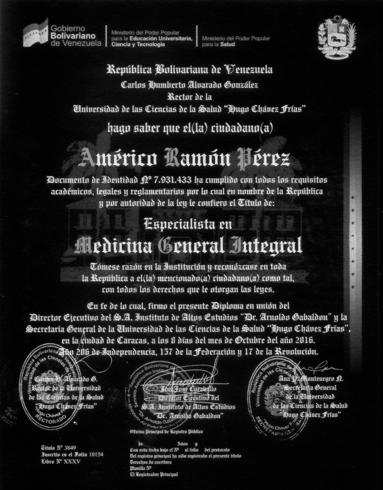 ESPECIALISTA M.G.I.