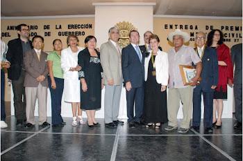 José Dimayuga, Premio Estatal al Mérito Civil de Literatura, Juan Ruiz de Alarcón, 2010.