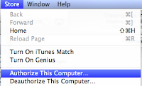 Authorizing a computer in iTunes