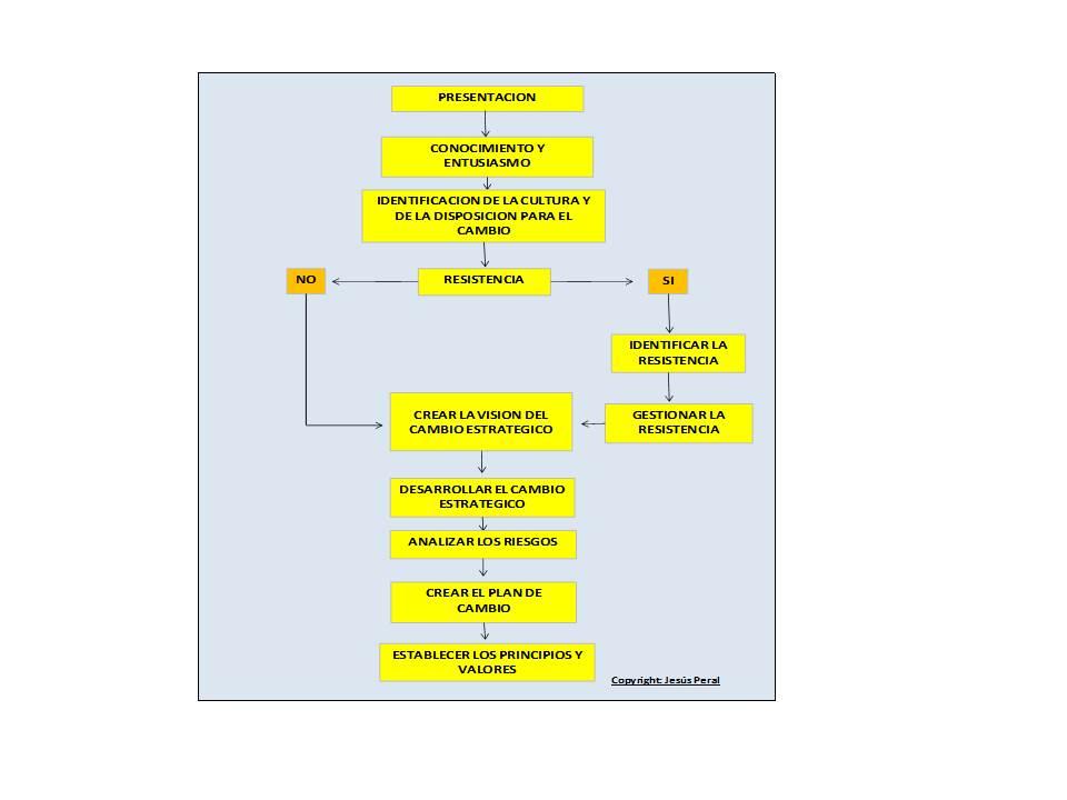 ESQUEMA 46. Proceso de gestión del cambio estratégico