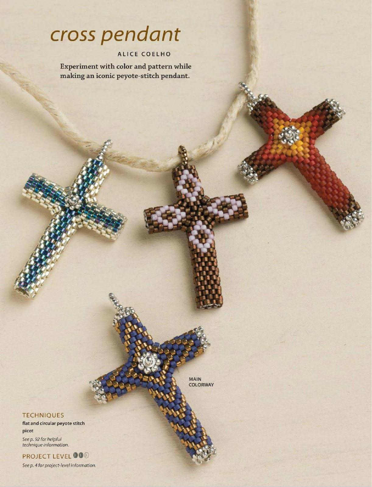 Крест из бисера схемы плетения