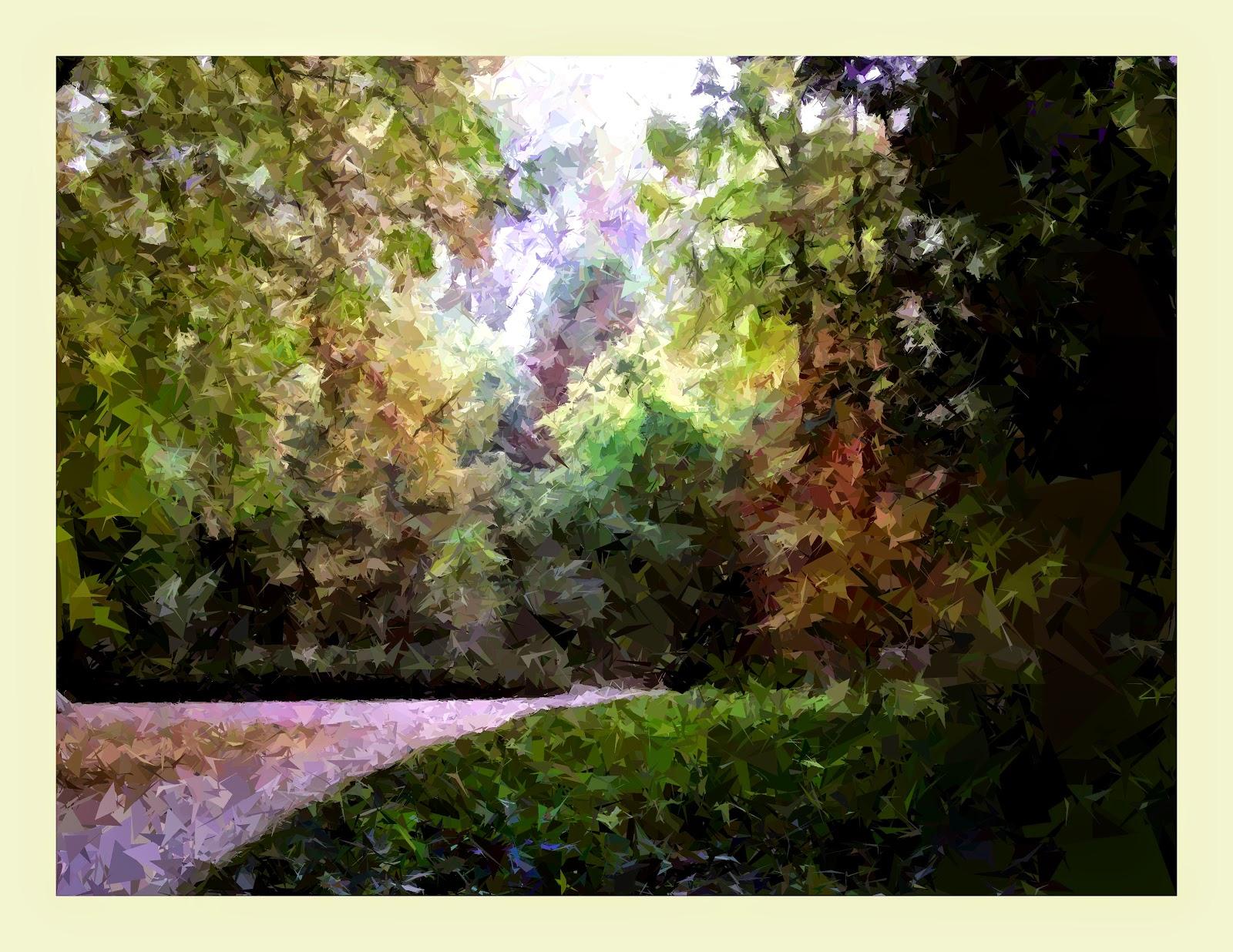 Mis cuadros pintura abstracta oto o en el jard n del for El jardin del principe
