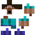 Minecraft Steve Head Template Minecraft mob - printable cutSteve Minecraft Template