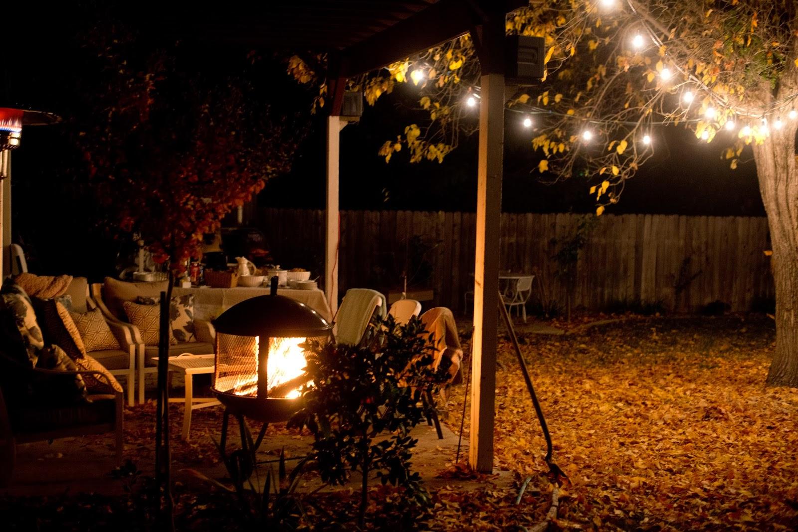 Nighttime Backyard Party : Backyard Party Night By the backyard fire pit