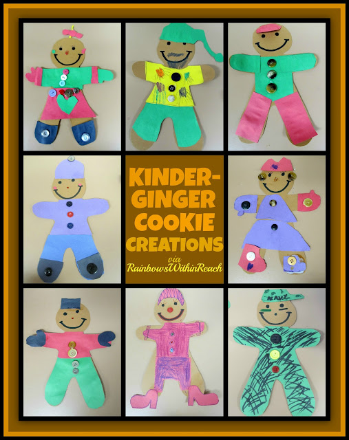 photo of: Kindergarten Gingerbread Decorations (Collages) via RainbowsWithinReach