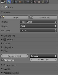 Blender cycles antigua configuración