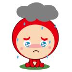 emoticones de peluche rojo en la lluvia