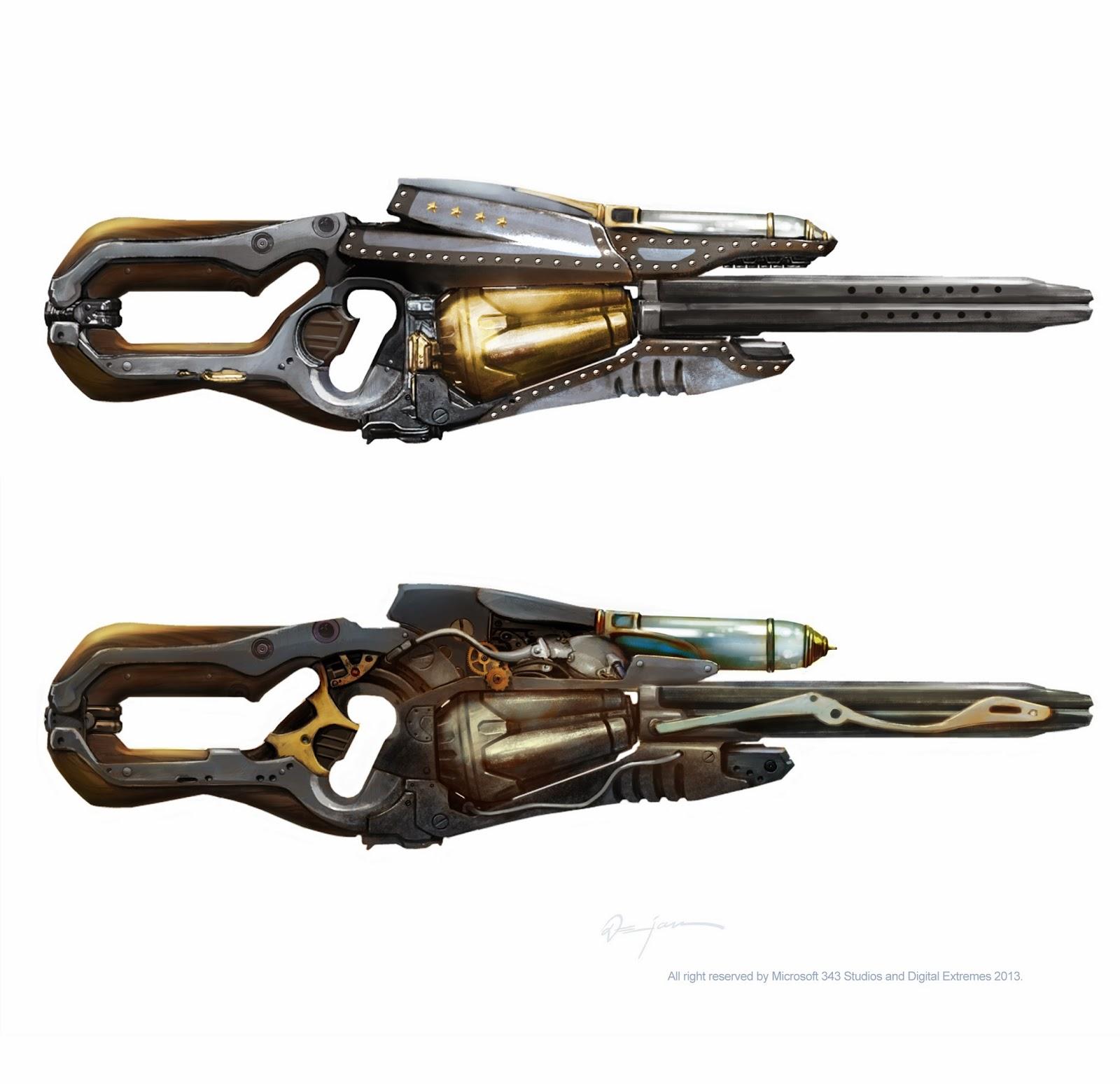 The Art Of Dejan Ostojic Steampunk Halo 4 Weapon Concept Arts