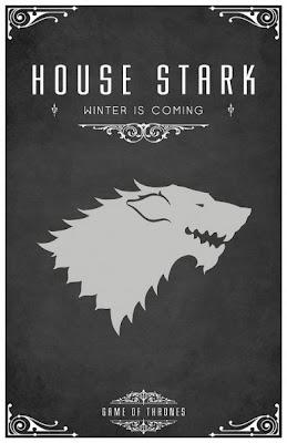 emblema casa Stark - Juego de Tronos en los siete reinos