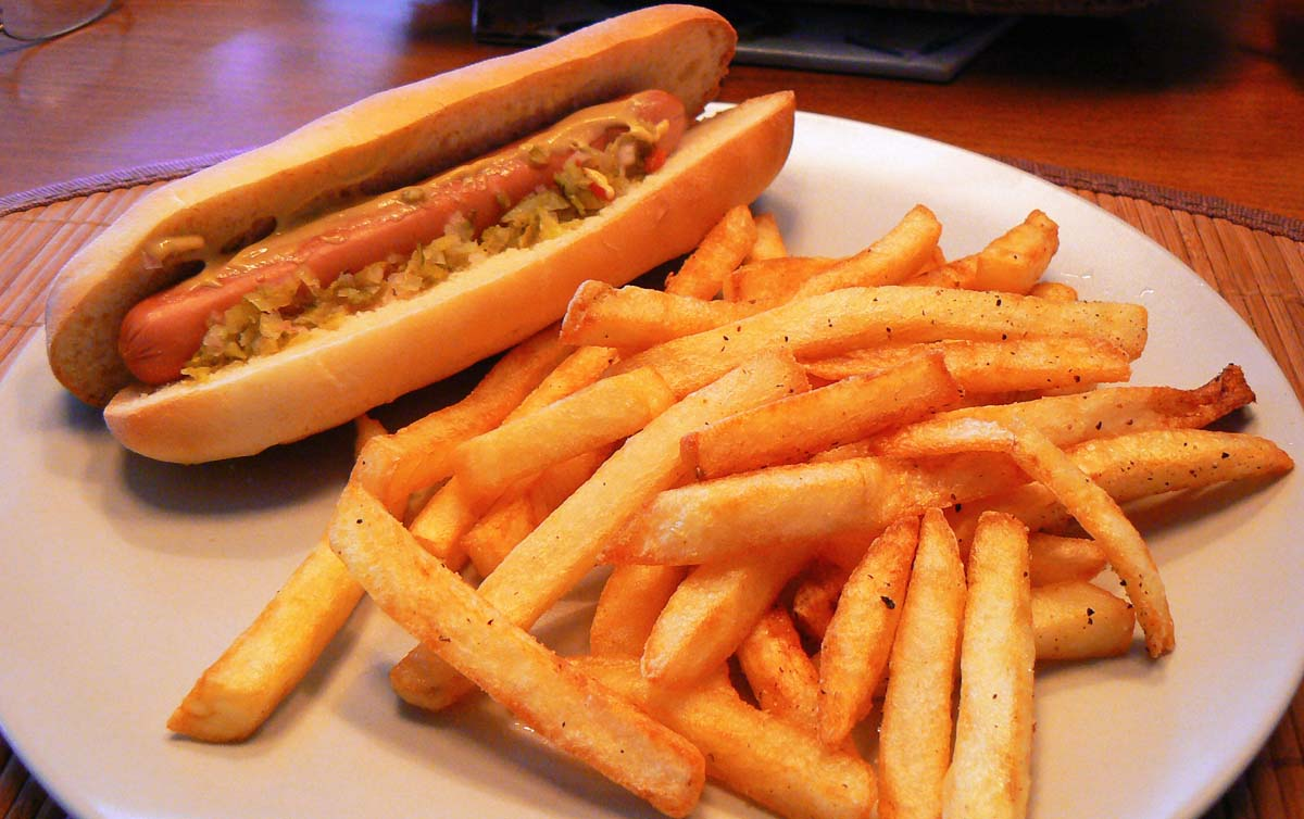 French Fry Hot Dogs