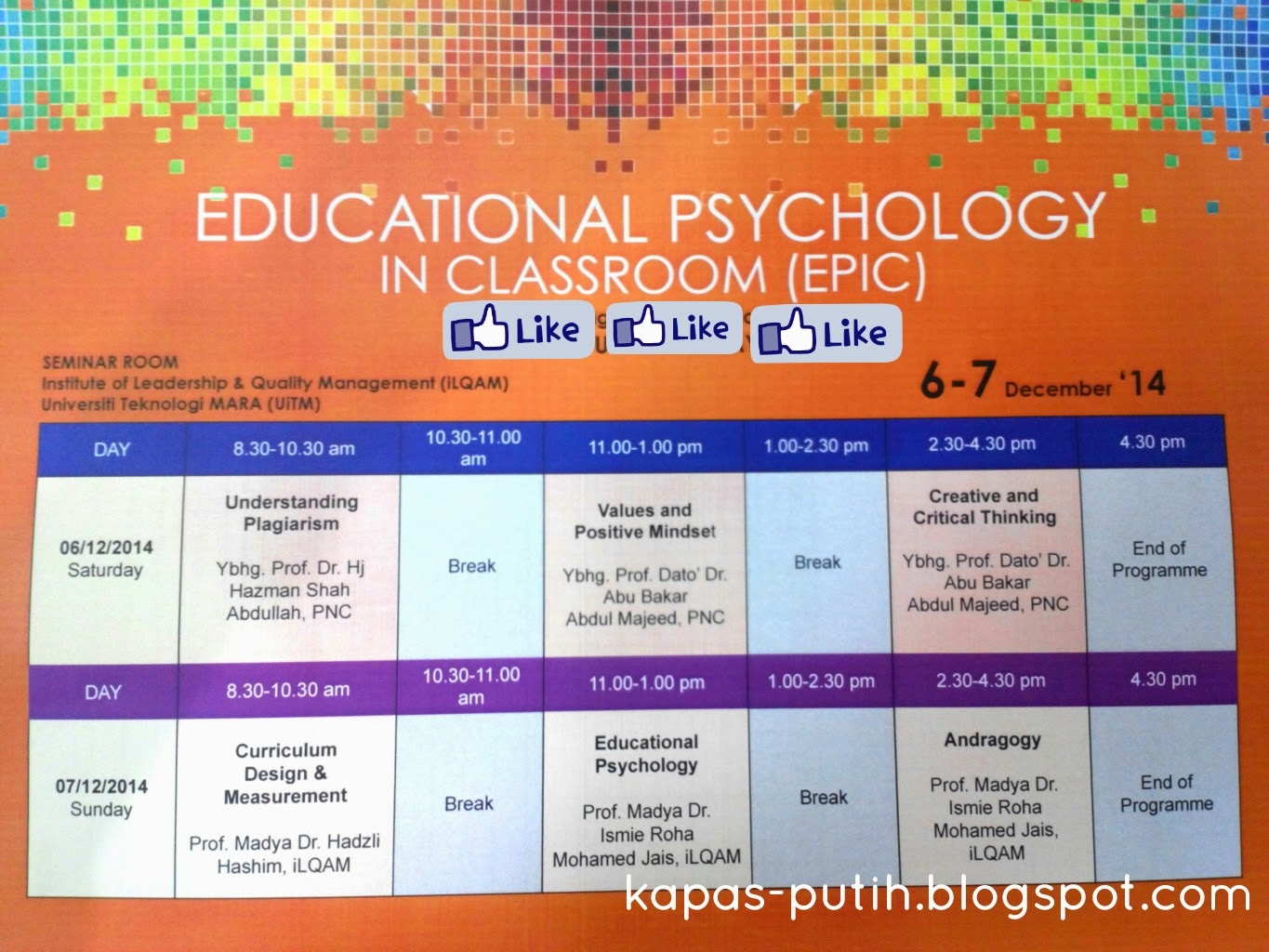 Educational Psychology / Learning & Teaching @ iLQAM UiTM P2