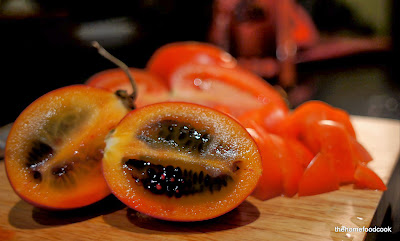 thehomefoodcook - tamarillo and tomatoes