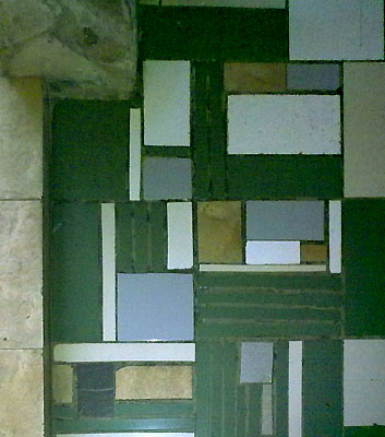 memanfaatkan sisa potongan keramik lantai rumahminim