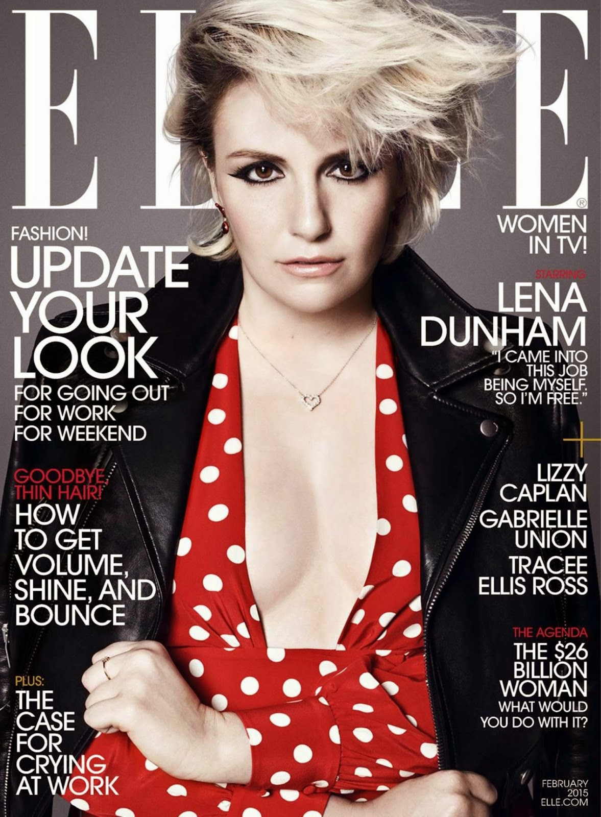 Lena Dunham by Paola Kudacki for Elle US, February 2015