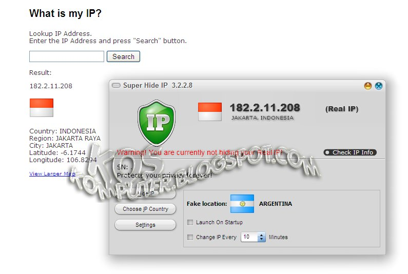 how to break an ip address into 4 strings