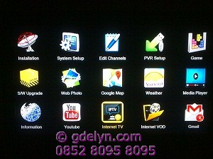 Tampilan menu Openbox X5,upgrade software openbox X5,receiver mpeg4