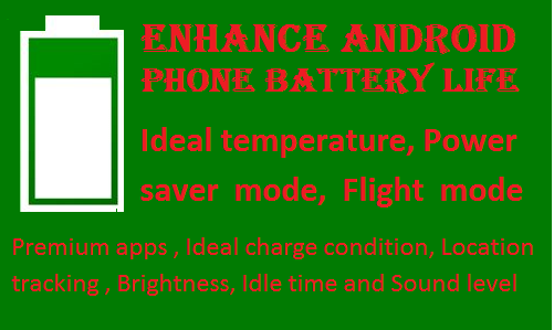 Android phone battery saving