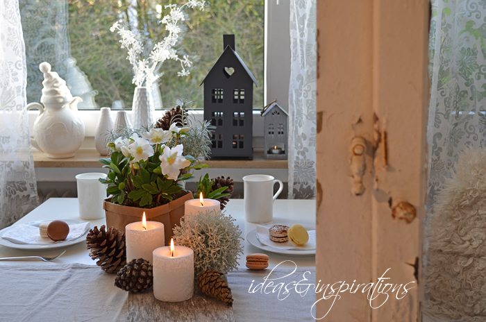 Ideas and inspirations januar dekoration january decoration Tischdeko im januar