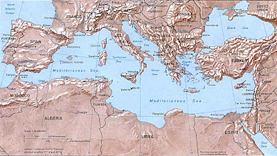 Map of Mediterranean islands