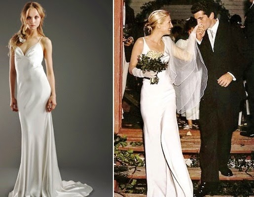 Mille feuille narcisco rodriguez spring summer 2015 for Carolyn bessette wedding dress
