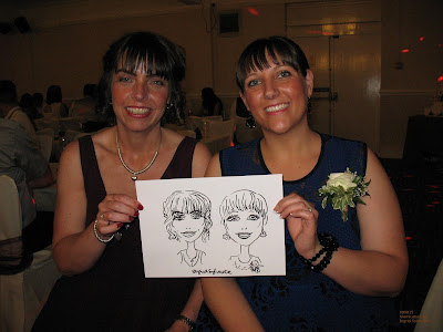 Ingrid Sylvestre entertainment wedding caricaturist parties corporate events proms North Yorkshire Teesside County Durham wedding caricatures Newcastle Sunderland Northumberland North East UK