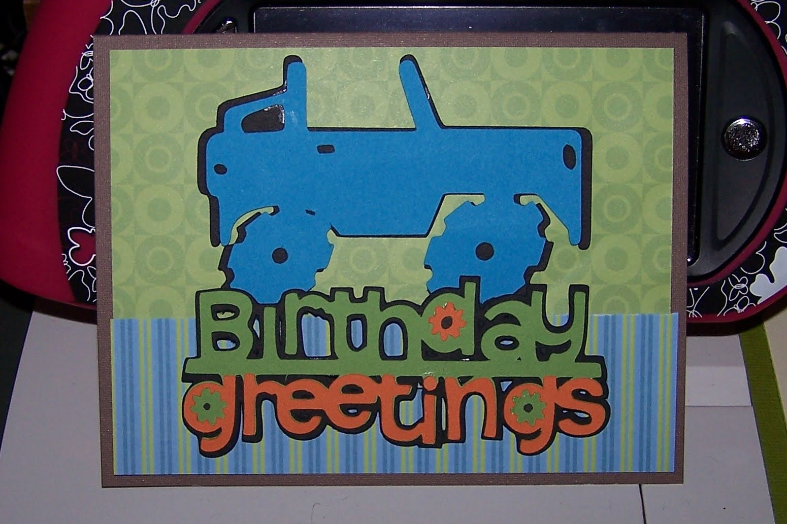 Making a card for a teen aged boy was a little bit of a challenge for me, ...